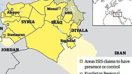 Map of ISIS area