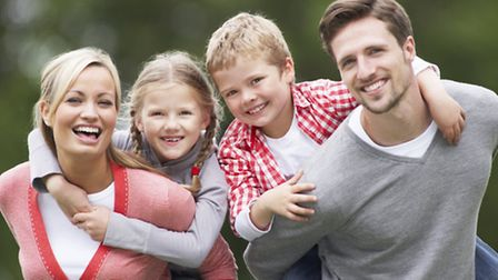 Stock image of a family