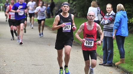 The Ipswich Half Marathon part of the route included Christchurch Park