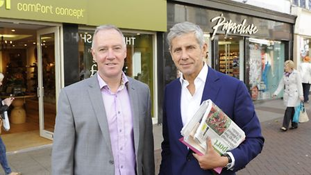 Paul Clement of Ipswich Central with Sir Stuart Rose EADT 15.9.12 ES 17.9.12