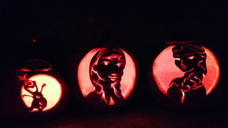 Do you want to carve a pumpkin? Frozen figures by Laura Robertson
