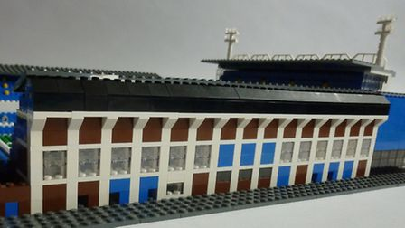 The Lego version of Portman Road, created by Chris Smith