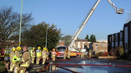 Firefighters in action in Hadleigh earlier this week