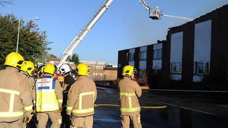 The fire on the Lady Lane Industrial Estate, Hadleigh