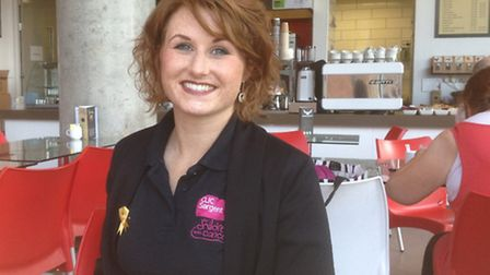 Daisy Turner, fundraising manager for CLIC Sargent (for children with cancer), for Norfolk and Suffo