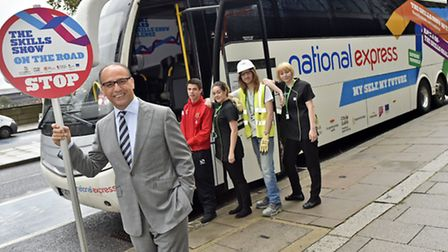 Theo Paphitis launching The Skills Show On The Road 2014.Photo:Professional Images/@ProfImages