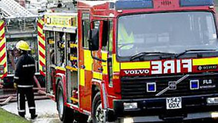 Firefighters were called to the tackle the flames at the site, believed to be Chantry Walled Garden,