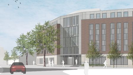 A new office block could be built in Princes Street, Ipswich.