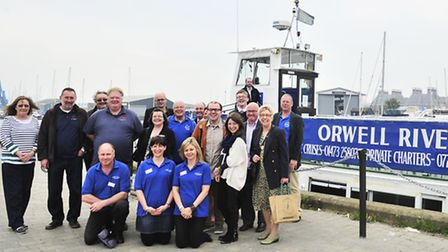 Orwell River Cruise launch at Ipswich Waterfront