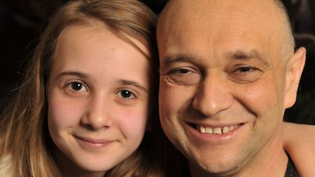 11-year-old Bethany Leach with dad, Kevin