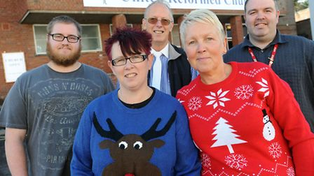 Preview for the Christmas lunch which is being held at the United Reformed Church in Stowmarket. Bac