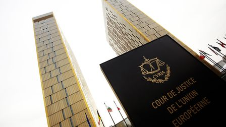 The towers of the European Court of Justice are pictured in Luxembourg City, Luxembourg, 26 January