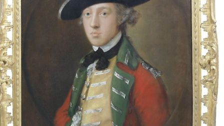 A Thomas Gainsborough painting, believed to be of General James Wolfe