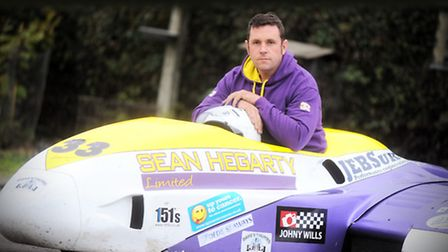 Sean Hegarty who has just become British F2 Sidecar champion.