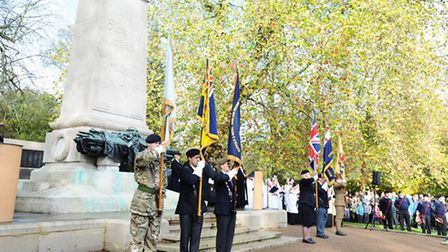 Service to mark Remembrance Sunday on Christchurch Park, Ipswich