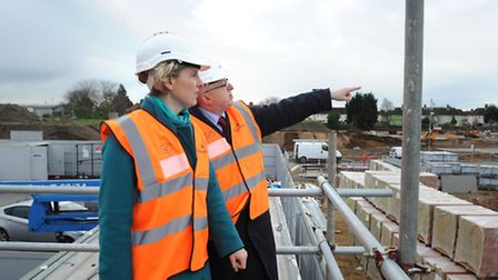 Shadow housing minister Emma Reynolds visited Bader Close council house scheme in Ipswich with loca