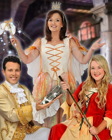 Lee Latchford Evans as Prince Charming, Maureen Nolan as the Fairy Godmother and Gabrielle Green as