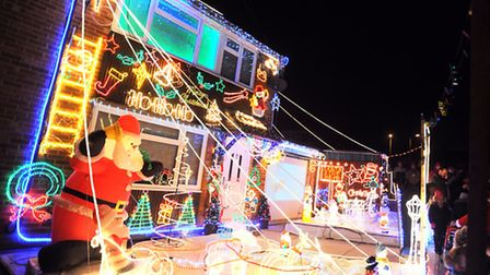 Major Christmas lights display at 4 Royston Drive. Money raised will go to Brooke Lawrence this year