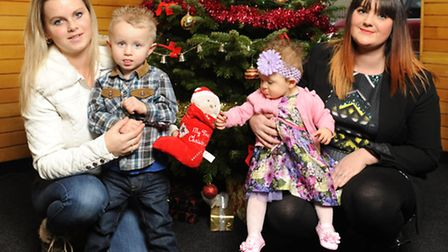 The winners of the Star bonny babies competition. L-R Stacie Collins and Alfie Smith, Kirstin Burg