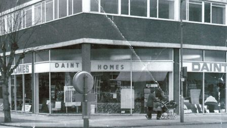 The old Dainty Homes store in the 1970s - the Bamberger family also ran The Remnants Shop, later reb