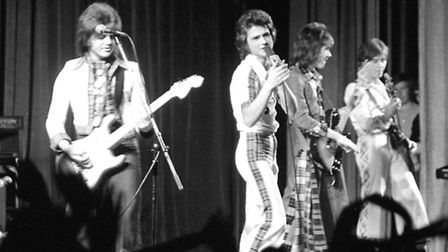 The Bay City Rollers on stage in Ipswich in October 1976. (Photo by Jerry Turner/Archant)