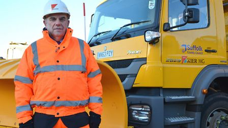 Graham Newman with the new gritters