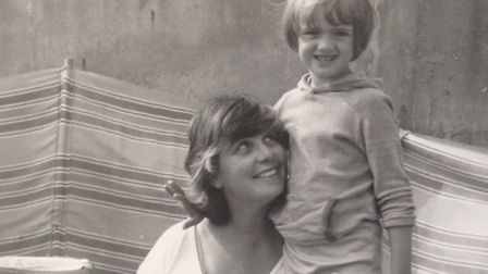 Kerenza Peacock as a child with mum Fay