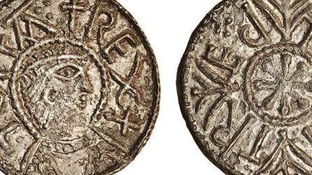 images of both sides the obverse and the reverse � of the Haughley penny sold at Spink in London t