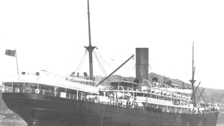 The Ruapeh - the steamer on which William Hewitt sailed to South Africa