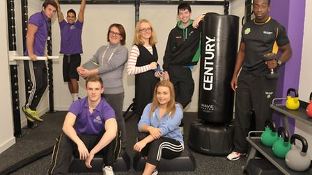 A new Profiles gym has opened up in the Athena Hall of UCS on the Ipswich waterfront. L-R Tom Jacks