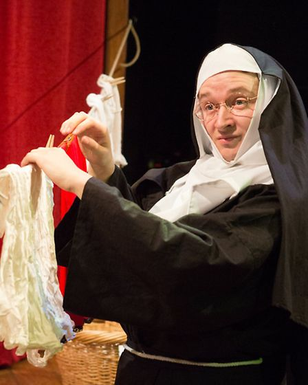 Eastern Angles' The Mystery of St Finnigan's Elbow, starring Joe Leat. Photos: Mike Kwasniak