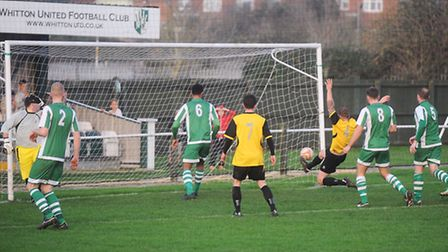 Whitton Utd v Stanway Rovers. Stanway's disallowed goal.
