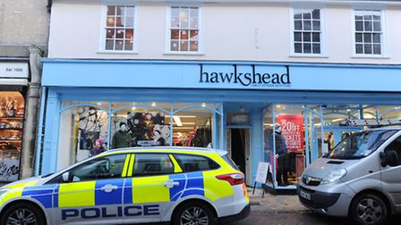 Police outside Hawkshead following the incident