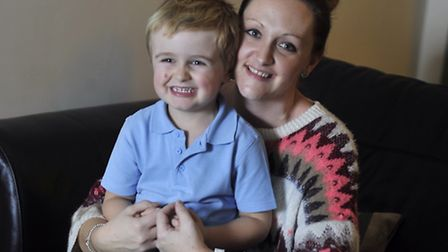 Joanna Hammond is concerned for her son Riley Hammond, 4, who has autisim and global development del