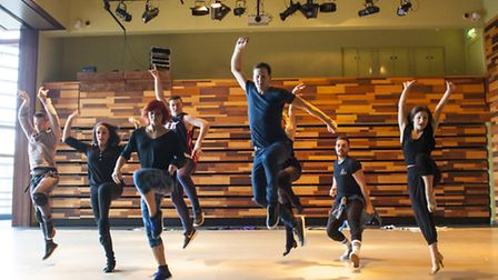 Brendan Cole and the dancers in his A Night to Remember Tour in rehearsals