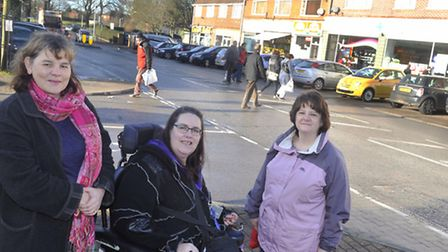 Ipswich Borough Councillor Sophie Meudec, and Suffolk County Councillors Kathy Bole and Sandra Gage