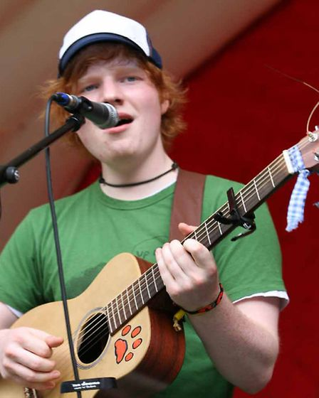Ed Sheeran, who has played at two Ipswich Music Days. Applications for this year's event are now ope