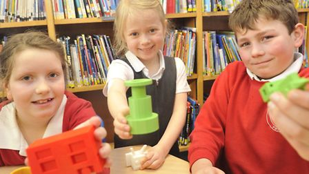 Pupils from Holbrook Primary School got to design items that were then made into 3D prints.