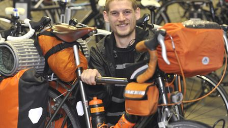 Ipswich man Gary Taylor is aiming to circumnavigate the globe on his bicycle next year to raise mone