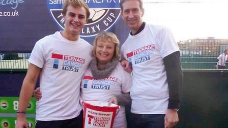 Cameron, Rosalind and Tony Wheeler, fundraising for the Teenage Cancer Trust