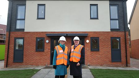 David Ellesmere showed off the borough's new homes at Bader Close to shadow housing minister Emma Re