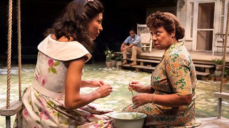 All My Sons featuring Kemi-Bo Jacobs as Ann Deever and Dona Croll as Kate Keller. Photograph: Jonath