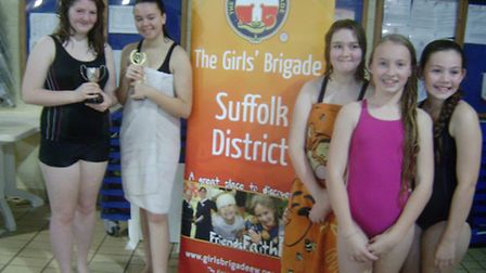 Girls from the 13th Ipswich Castle Hill company at the annual swimming gala