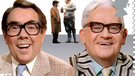 Undated handout photo issued by Royal Mail of the Two Ronnies, Ronnie Corbett and Ronnie Barker, fea
