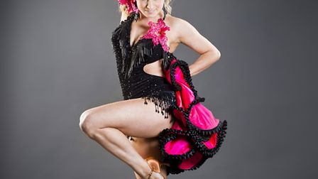 Ipswich dancer Crystal Main, appearing with Strictly Come Dancing star Brendan Cole. Photo: A Little