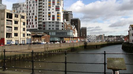 Woman taken to Ipswich Hospital after getting stuck in the mud by Stoke Bridge