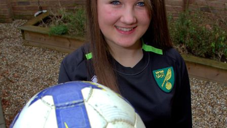 Ellie Bird who is upset that the Norwich City Girls Centre of Excellence is to close and wants to fi