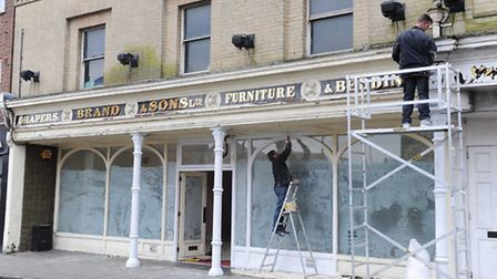 Former Brand & Sons Drapers of Tacket Street, Ipswich get a facelift before becoming a craft store