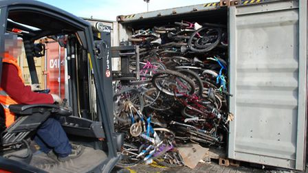 Police officers have seized hundreds of vehicle parts at the Port of Felixstowe. Photo: Metropolitan