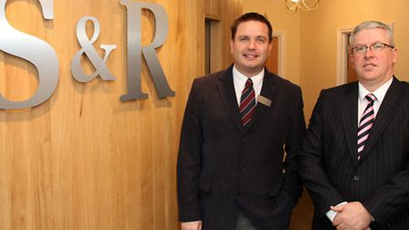 Matt Southgate (left) and Liam Roberts of Southgate and Roberts Funeral Directors in St Matthews Str
